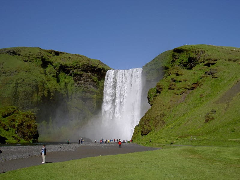Chutes d'eau en Islande