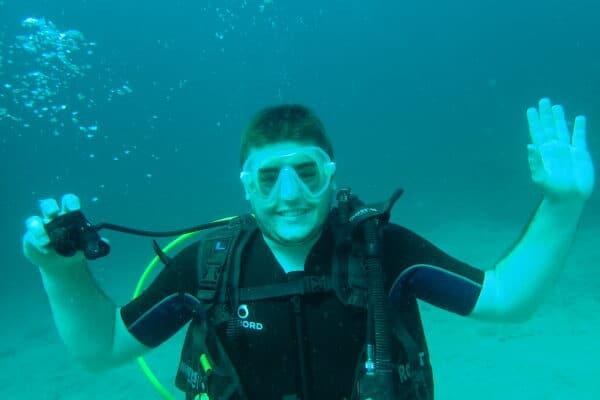 débutants en plongée