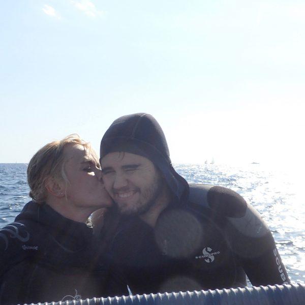 Plonger à Nice avec mon fils Pascal